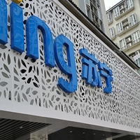 商业步行街门头装饰雕花铝单板