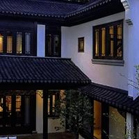 外墙改造工程铝挂落-仿木色铝挂落-装饰材料