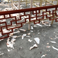 门头铝挂落-木纹铝挂落-生产规格