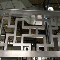 天津宝坻复古木纹铝格栅厂家木纹铝窗花定制价格