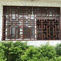 广西钦州复古木纹铝窗花花格供应仿古木纹铝窗花