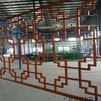 湖北咸宁中式铝窗花木纹铝花格复古型材定制铝花格厂家