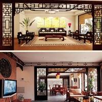山东青岛平度木纹铝屏风格栅长沙仿木纹铝窗花