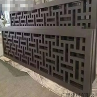 陕西汉中留坝中式铝窗花仿古铝窗花格木纹铝窗花供应厂家