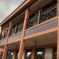 河北沧州盐山防盗铝窗花城镇房屋铝窗花装饰木纹铝窗花定制
