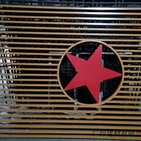 四川成都新津木纹铝窗花铝花格铝屏风铝花格吊顶图片