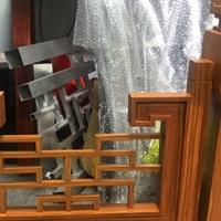 河南安阳中式铝窗花木纹铝花格复古型材定制木纹铝窗花供应