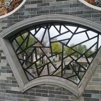 风景区铝型材木纹花格按需定做