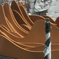 街道改造鋁型材木紋花格按需定做