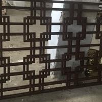 古典茶庄型材焊接铝窗花装饰
