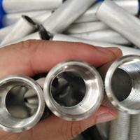国标铝管切割 攻牙 倒角 直纹/网纹拉花铝管