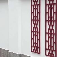 成批出售单色标准规格铝花格 木纹铝花格定制