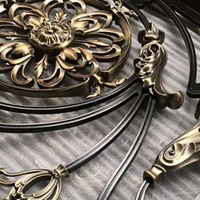 别墅铜雕铝雕护栏楼梯不锈钢立柱金属装饰