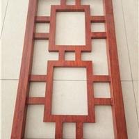 乡村改造仿木纹铝窗花格 铝屏风格栅材料