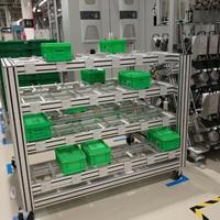 工业铝型材框架 铝型材物料架