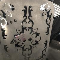 中空玻璃门防撞装夹雕花铝板-雕刻铝板定制
