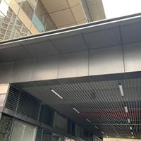 人行隧道入口鋼結構封頂鋁單板 雨棚鋁單板