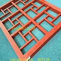 红色万格子铝制花格-中式铝花格图片