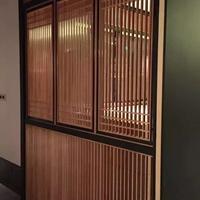 入门铝合金格栅-中式木纹铝格栅