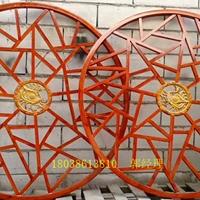 木色鋁格柵隔斷-中式鋁合金格柵廠家