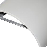 2.5mm粉末噴涂啞光白商場包柱切孔鋁單板