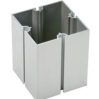 80方柱企業展位搭建鋁合金型材8分方柱四槽