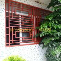 木紋鋁窗花-鋁型材定制-中式鋁窗花