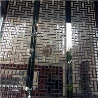 养生会所木纹色雕刻铝窗花-厂家生产