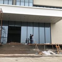 东莞精达电子厂门头铝单板_门头飘棚铝单板