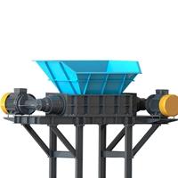 一般工业垃圾处理设备 大蓝桶破碎机