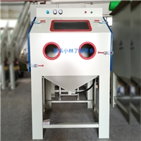 鋁制品氧化前處理箱式手動噴砂機