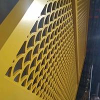 老酒館飯店門頭裝飾造型沖孔鋁單板廠家定制