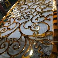 铝艺镂空雕花K金屏风 侧面也光滑细腻
