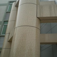 北京學校樓藝術雕刻鋁單板-淺灰色<em>鋁</em><em>板</em>吊頂