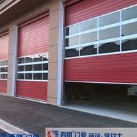 消防车库红色提升门