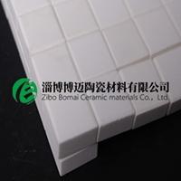 電廠煤粉管道用氧化鋁陶瓷貼片,耐磨襯片