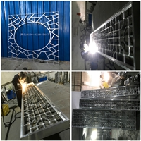 江苏仿古铝方通护栏-暗红色铝合金护栏