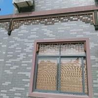 焊接鋁窗花熱轉印木紋色鋁窗花定制廠家