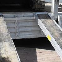 2.8米久保田微挖挖掘机爬车加强型铝合金爬梯