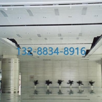 商业大楼高铁车站玫瑰金螺杆吊装弧形铝挂片