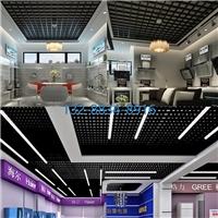 电梯/楼梯4S店/售楼部间距50,75,100,150,200,300方格专用配件固定黑白格栅吊顶效果图