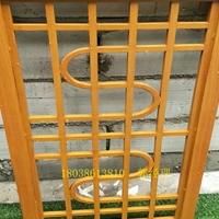 日照仿木纹铝窗花中式花格-厂家定制