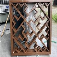 中式铝花格木纹色一厂家定制