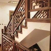 西宁别墅房楼梯仿古铝栏杆中式铝护栏