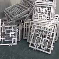 惠美子会所室外材料铝花格厂家定制