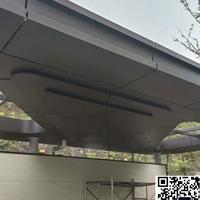 出入口雨棚铝板 过道走廊银灰色铝单板价钱