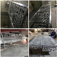 厂家供应中式铝屏风-木纹防盗窗