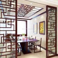 铝方管焊接屏风-木纹铝合金屏风