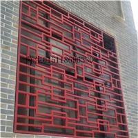 农村窗户防盗网铝窗花 木纹铝窗花可定制