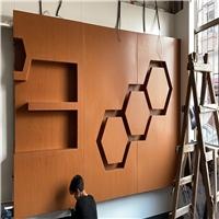 酒店过道墙面橡木纹0.8厚镀锌钢板加工厂
